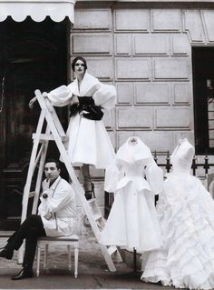 'Handmade's Tale', photographed by Patrick Demarchelier, Vogue US October 2008.  Christian Dior Fall Winter 2008 Haute Couture