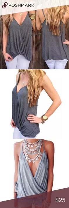 Draped Boho Tank Top Not FP- listed for exposure. Perfect summer festival top!! Free People Tops Tank Tops