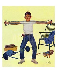 """Working Out"", March 14, 1959 Giclee Print by Kurt Ard at Art.com"