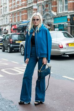 Pin for Later: The Best of Paris Fashion Week Street Style (Updated!) LFW Street Style Day 3 This showgoer was already channeling Spring's major '70s vibes.