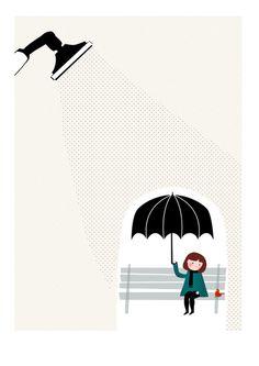 Le petit monde - Illustrations by Sara Olmos, via Behance