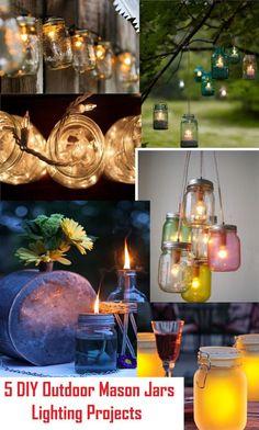 5 DIY Outdoor Mason Jars Lighting Projects