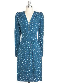 Midnight Maniac Dress by People Tree - modcloth Vintage Tea Dress, Retro Vintage Dresses, Vintage Inspired Dresses, Vintage Style, Unique Dresses, Dresses Uk, Cute Dresses, Fashion Dresses, Fashion Deals