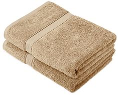 From 13.92 Pinzon By Amazon - Egyptian Cotton Towel Set 2 Bath Towels - Driftwood