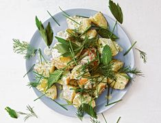 Recipe: New potato salad with green herbs and lemon dressing.