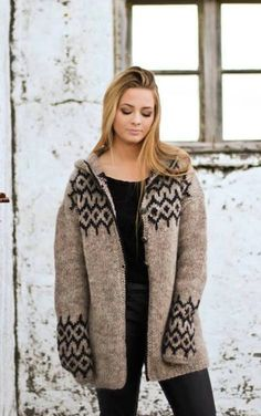 Items similar to Handknitted wool cardigan on Etsy Cardigan Long, Wool Cardigan, Icelandic Sweaters, Wool Sweaters, Knitted Coat, Knitwear Fashion, Loop Scarf, Fashion 2020, Cute Outfits