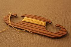 Tablet weaving shuttle. Card weaving shuttle. Zebrano by Ampstrike, $13.50