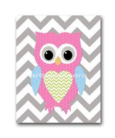 Owl+Decor+Owl+Nursery+Baby+Girl+Nursery+Decor+Baby+door+artbynataera,+$14.00
