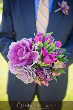 Bright purple by Arrangements Floral & Party Designs Exotic Wedding, Purple Wedding, Floral Wedding, Wedding Bouquets, Wedding Flowers, Dream Wedding, Bright Purple, Blue, April Wedding
