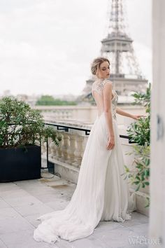 With commanding views of the Eiffel Tower and the River Seine, the Shangri-La Hotel, Paris serves as a perfect backdrop for this dream celebration in the City of Light. // WedLuxe– City of Light | Photography by: Vasia Photography Follow @WedLuxe for more wedding inspiration!