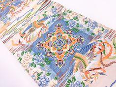 鳳凰に華紋・草花模様織り出し袋帯