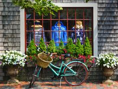 Nantucket, storefront -love the planters