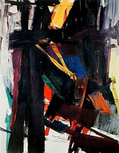 "Franz Kline (1910-1962)  was an American painter mainly associated with the abstract expressionist movement centered around New York in the 1940s and 1950s. He was labeled an ""action painter"" because of his seemingly spontaneous and intense style, focusing less, or not at all, on figures or imagery, but on the actual brush strokes and use of canvas."