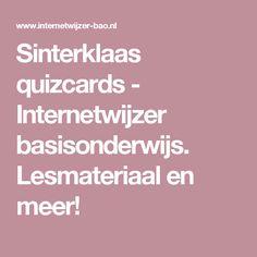 Sinterklaas quizcards - Internetwijzer basisonderwijs. Lesmateriaal en meer!