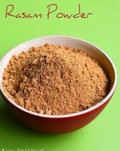 Rasam powder recipe, learn how to make homemade rasam powder that you can grind in mixie and store in bulk. Podi Recipe, Rasam Recipe, Sambhar Recipe, Homemade Spices, Homemade Seasonings, Barbacoa, Masala Spice, Masala Tea, Chaat Masala