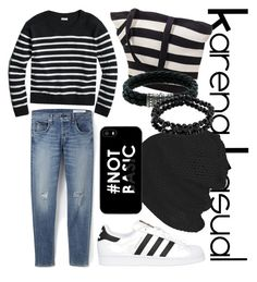 """KarenaKasual-The Stripe"" by nesyagata on Polyvore"