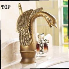 42.75$  Buy now - http://alijk9.worldwells.pw/go.php?t=2049681679 - Swan style Antique bronze Brass Faucet Bath Basin Mixer tap Bathroom bath tap toilet basin faucets