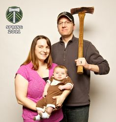 We are the Timbers - Kari, Trask and Archie.