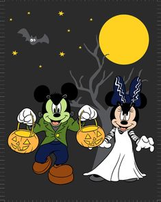 Frankenstein Mickey and Minnie Mouse 100118 Mickey Mouse Halloween, Mickey Mouse Art, Disneyland Halloween, Halloween Clipart, Mickey Mouse And Friends, Halloween Themes, Disney Mickey, Disney Art, Halloween Crafts