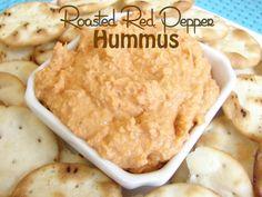 Easy roasted red pepper hummus (dairy-free, gluten-free, & grain-free)