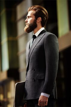 suits and beards, the perfect man