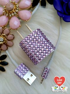 Bling Phone Charger DIY Kit Phone Charger by LoveDIYdotca on Etsy, $7.99