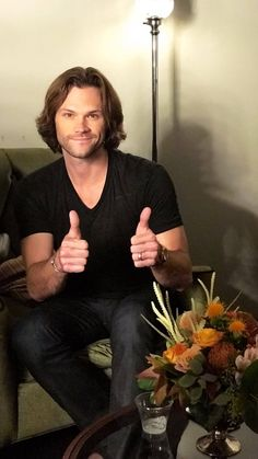 Always Keep Fighting • sammyhale:   Jared and Gen at Jimmy Kimmel bts and...