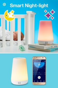 Hatch Baby Rest is a smart, grow-with-baby nightlight, sound machine and an OK to-wake indicator that is controlled and programmed from your mobile phone. It's simple to use and lets you customize the amount of light for nighttime feedings and diaper changes. It features pre-set light and sound themes that promote healthy circadian rhythms for a better night sleep. As your little one grows, you can set times to let your toddler know it's okay to rise and shine.