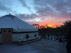 Sunrise over The Yurt...