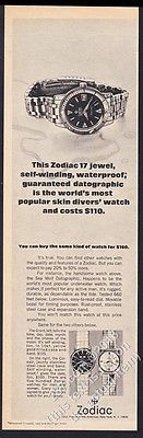 1967 zodiac sea wolf seawolf datographic diver #diving #watch photo #print ad,  View more on the LINK: http://www.zeppy.io/product/gb/2/311793334904/