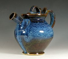 Pottery Teapot, thrown on a wheel