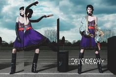 Carine Roitfeld-styled #Givenchy Fall 2012 ad campaign