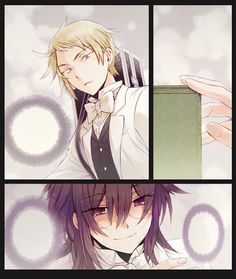pandora hearts| coloured in manga page| Elliot and Leo