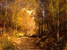 Emil Jakob Schindler - Forest Lane near Schärfling - Google Art Project - Emil Jakob Schindler - Wikipedia, the free encyclopedia