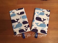 Blue Whale Drool/Suck Pads for Soft Structure by FireWifeDesigns