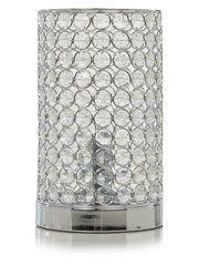 George Home Acrylic Crystal Beaded Cylinder Lamp