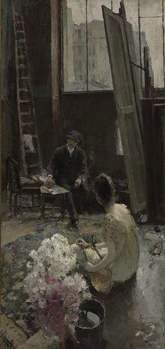 The Athenaeum - In the Artist's Studio Date unknown (Constantin Alexeevich Korovin - )