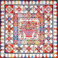 Flower Basket Medallion Quilt Pattern By Kim McLean