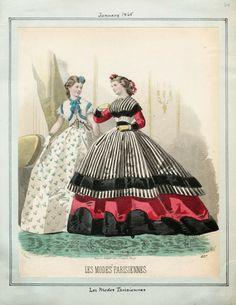 In the Swan's Shadow: Peterson's Magazine, January 1865  Civil War Era Fashion Plate