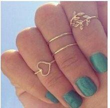 New vendita 4 pz/set donne oro argento 925 carino urbana di cristallo pianura sopra knuckle anello fascia midi anello foglia cuore knuckle rings 3081(China (Mainland))