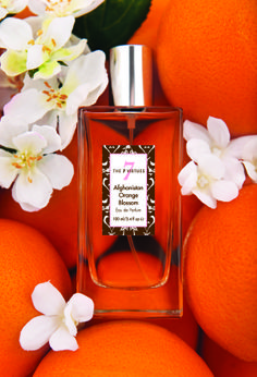 Afghanistan Orange Blossom Eau de Parfum - Dragons' Den Winner - with notes of freesia and jasmine. The perfect summer scent - fresh and it supports farmers in Afghanistan to grow legal crops. www.the7virtues.com $70