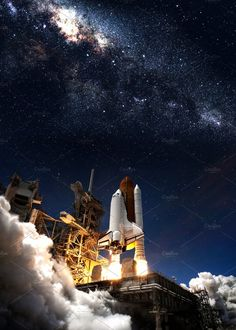 Ad: Space shuttle by Vadim Sadovski on @creativemarket. Space shuttle taking off on a mission. Elements of this image furnished by NASA. Thanks so much for looking and please let me know if you #creativemarket Nasa Space Program, Nasa Photos, Technology Photos, Planets Wallpaper, Hubble Images, Hubble Space Telescope, Space Shuttle, Space Travel, Space Exploration