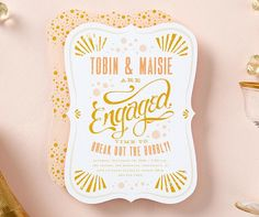 Get the party started with a bright and bubbly bridal shower invitation.