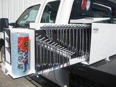 Truck Bed Organization Ideas Tool Box Ideas For 2019 Truck Bed Trailer, Truck Flatbeds, Shop Truck, New Trucks, Cool Trucks, Pickup Trucks, Work Trailer, Truck Camper, Truck Tools