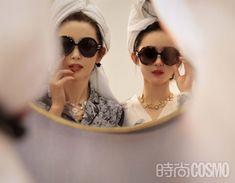 Zhao Liying and Li Bingbing cover fashion magazine | China Entertainment News Li Bingbing, Zhao Li Ying, Chinese Actress, Round Sunglasses, Sunglasses Women, Actors & Actresses, Magazine, Entertainment, China