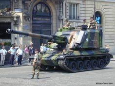 French AMX AU-F1 self-propelled artillery (155 mm)