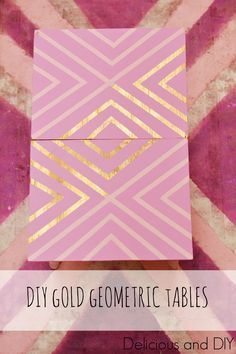 DIY Gold Geometric T