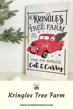 This hand painted Kringles Tree Farm sign features a vintage truck with a Christmas tree in the back and is the perfect accent to your rustic home decor. Christmas Tree Farm, Rustic Christmas, Christmas Home, Winter Home Decor, Winter House, Rustic Style, Farmhouse Style, Farmhouse Decor, Truck Signs