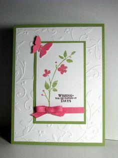 Card Idea- From SU Watercolor Trio