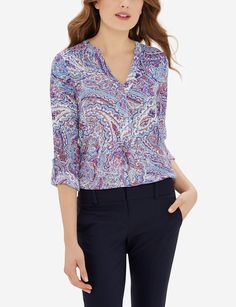 If you're a fan of our Ashton, you'll love this blouse! Simple and sophisticated, this drapey top is an office staple to mix and match.